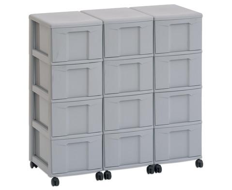 Flexeo Container-System 3 Reihen 12 Boxen HxBxT 66x90x38 cm-9