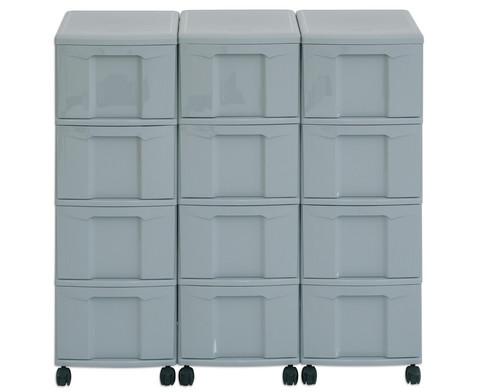 Flexeo Container-System 3 Reihen 12 Boxen HxBxT 66x90x38 cm-10