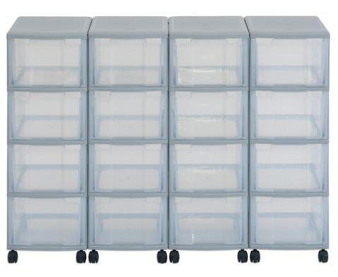 Flexeo Container-System 4 Reihen 16 grosse Boxen HxBxT 66x120x38 cm-1