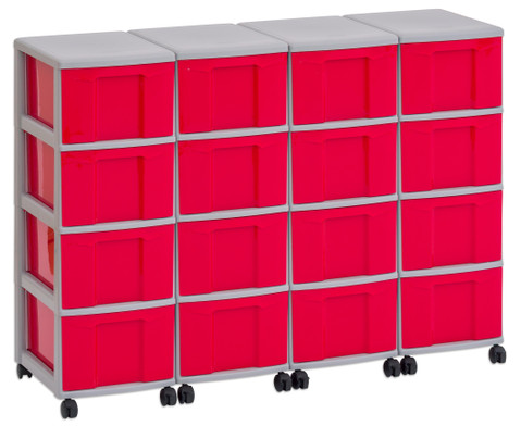 Flexeo Container-System 4 Reihen 16 grosse Boxen HxBxT 66x120x38 cm-3