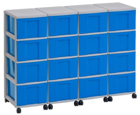 Flexeo Container-System 4 Reihen 16 grosse Boxen HxBxT 66x120x38 cm-4