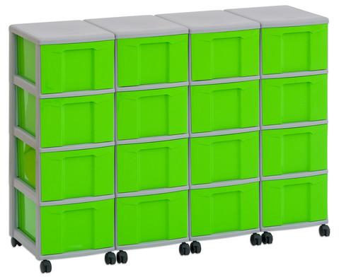 Flexeo Container-System 4 Reihen 16 grosse Boxen HxBxT 66x120x38 cm-5
