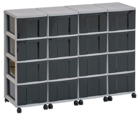 Flexeo Container-System 4 Reihen 16 grosse Boxen HxBxT 66x120x38 cm-6
