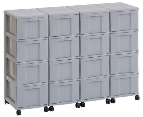 Flexeo Container-System 4 Reihen 16 grosse Boxen HxBxT 66x120x38 cm-7