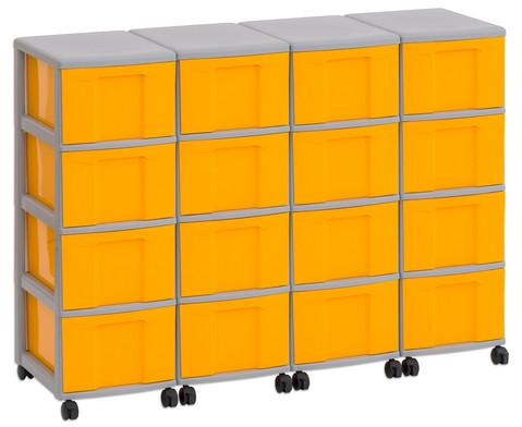 Flexeo Container-System 4 Reihen 16 grosse Boxen HxBxT 66x120x38 cm-17