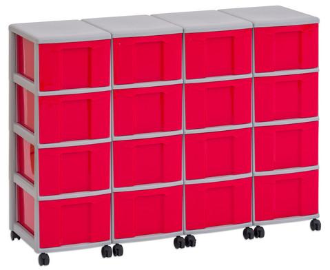 Flexeo Container-System 4 Reihen 16 grosse Boxen HxBxT 66x120x38 cm-13