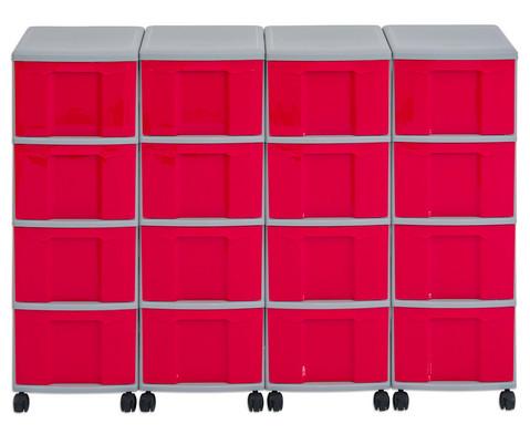 Flexeo Container-System 4 Reihen 16 grosse Boxen HxBxT 66x120x38 cm-14