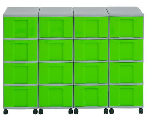 Flexeo Container-System 4 Reihen 16 grosse Boxen HxBxT 66x120x38 cm-24
