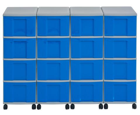 Flexeo Container-System 4 Reihen 16 grosse Boxen HxBxT 66x120x38 cm-22