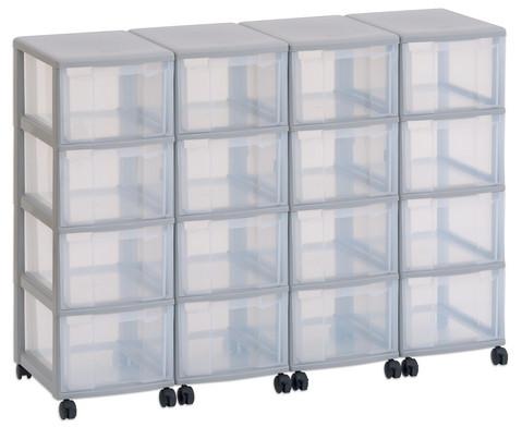 Flexeo Container-System 4 Reihen 16 grosse Boxen HxBxT 66x120x38 cm-9