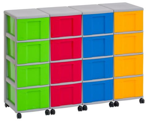 Flexeo Container-System 4 Reihen 16 grosse Boxen HxBxT 66x120x38 cm-11