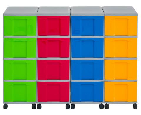 Flexeo Container-System 4 Reihen 16 grosse Boxen HxBxT 66x120x38 cm-12