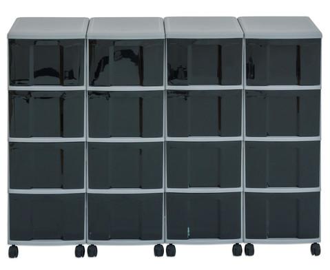 Flexeo Container-System 4 Reihen 16 grosse Boxen HxBxT 66x120x38 cm-20