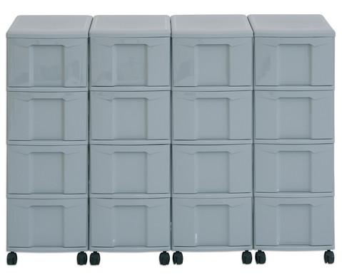 Flexeo Container-System 4 Reihen 16 grosse Boxen HxBxT 66x120x38 cm-16
