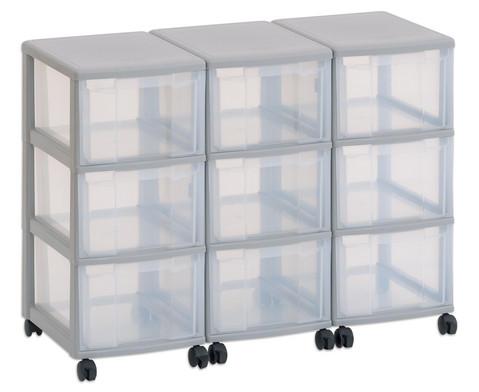 Flexeo Container-System 3 Reihen 9 grosse Boxen HxBxT 66x90x38 cm-1