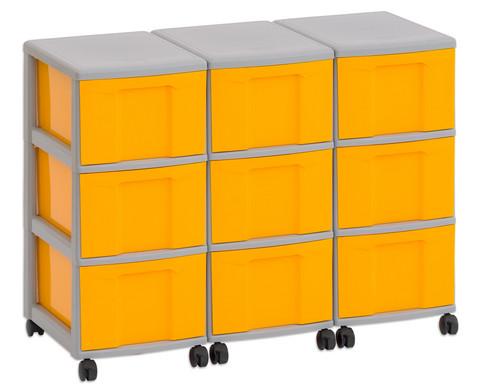 Flexeo Container-System 3 Reihen 9 grosse Boxen HxBxT 66x90x38 cm-2
