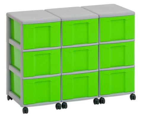 Flexeo Container-System 3 Reihen 9 grosse Boxen HxBxT 66x90x38 cm-3