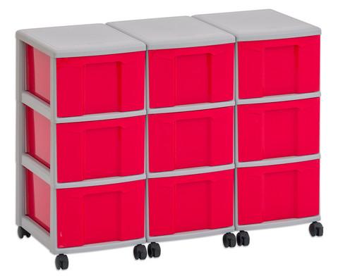 Flexeo Container-System 3 Reihen 9 grosse Boxen HxBxT 66x90x38 cm-4