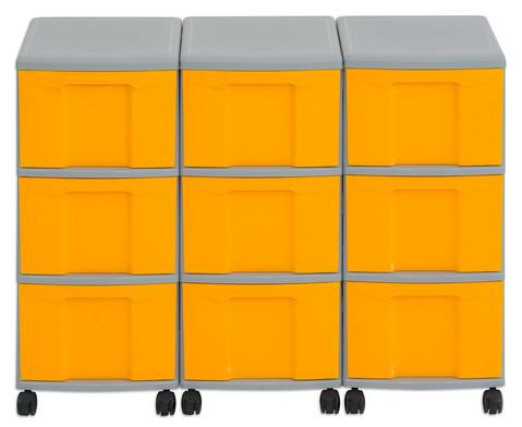 Flexeo Container-System 3 Reihen 9 grosse Boxen HxBxT 66x90x38 cm-10