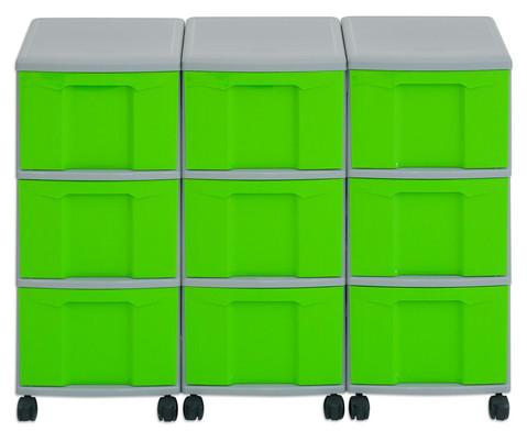 Flexeo Container-System 3 Reihen 9 grosse Boxen HxBxT 66x90x38 cm-14