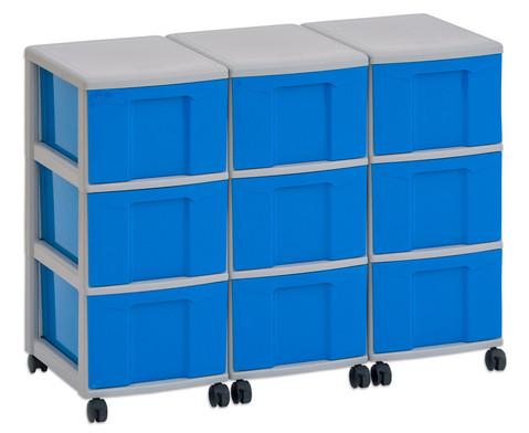 Flexeo Container-System 3 Reihen 9 grosse Boxen HxBxT 66x90x38 cm-17