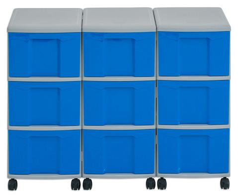 Flexeo Container-System 3 Reihen 9 grosse Boxen HxBxT 66x90x38 cm-16