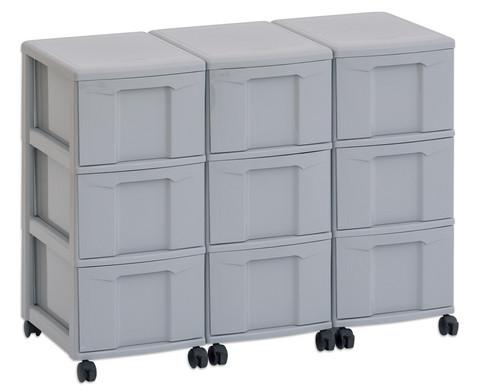 Flexeo Container-System 3 Reihen 9 grosse Boxen HxBxT 66x90x38 cm-20