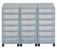Flexeo Container-System 3 Reihen, 12 kleine Boxen HxBxT: 66x90x38 cm