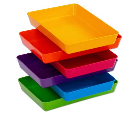 Set mit 6 kleinen Materialschalen
