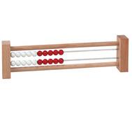 Rechenrahmen mit 20 Perlen rot/weiss