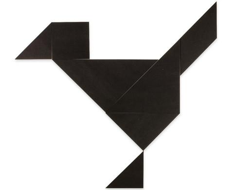 Riesen-Tangram-Teile aus Kunststoff schwarz in Box-1