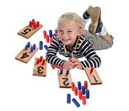 Zahlenstecktafeln aus Holz