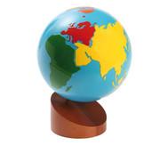 Globus mit Erdteilen in Farbe