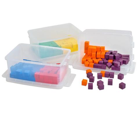 Betzold Klassensatz mit 300 Wuerfeln und 3 Kunststoff-Boxen