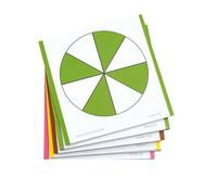115 farbige Bruchrechenkarten