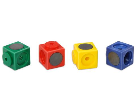 20 Riesensteckwuerfel magnetisch 4 Farben
