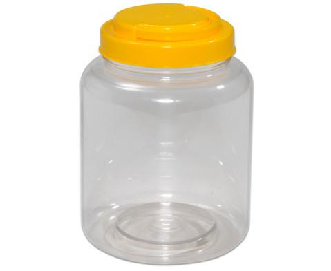 Material-Behaelter mit gelbem Schraubdeckel