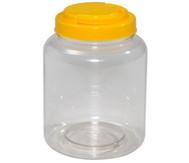 Material-Behälter mit gelbem Schraubdeckel