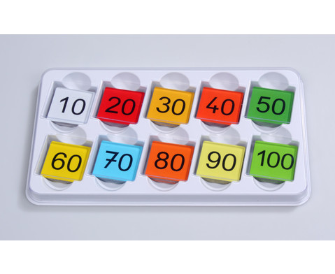 Einmaleins-Tafel mit farbigen Ergebnis-Kaertchen-2