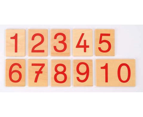 Zahlenkarten fuer numerische Stangen