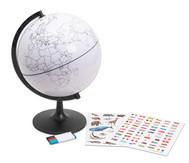 Globus mit Umrissen der Erdteile und der Länder