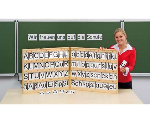 Betzold magnetischer Buchstabensatz im Holzkoffer
