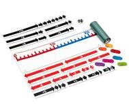 Magnet-Zahlenstrahl von 0 bis 100 mit Zubehör