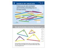 Arbeitskarten zu Winkelschienen: Knobeln mit Dreiecken