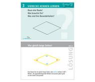 Arbeitskarten zu Winkelschienen: Vierecke kennenlernen