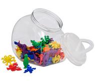 Wasserwelt-Rechentiere im Kunststoffbehälter