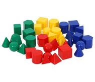 Satz mit 40 kleinen Geometriekörpern