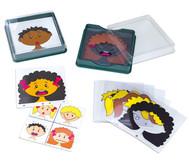 Lernkarten: Gesichter und Gefühle