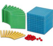 RE-WOOD® Zehnersystemsatz, 121 bunte Teile