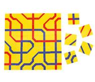 Streckenpuzzle mit 12 quadratischen Karten